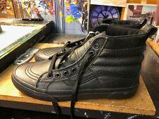 Vans Sk8-Hi MTE Leather Black Size US 8.5 Men (10 Women) New Blackout Rare