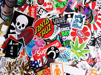 10 Skateboard Stickers Pack TOP BRANDS! Car BMX Snowboard Van Laptop Ipad Guitar