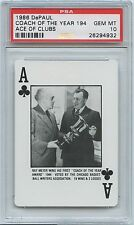 1986 DePaul Playing Cards RAY MEYER Coach of the Year - Ace of Clubs - PSA 10