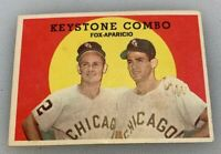1959 Topps # 408 Keystone Combo Nellie Fox Luis Aparicio Baseball Card White Sox