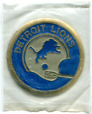 1970 DATED DETROIT LIONS NFL FOOTBALL MEDALLION CREST MINT IN BAG