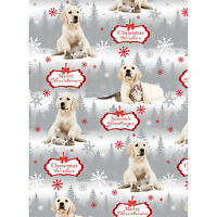 'In the Snow' Labrador Puppy dog & Kitten Cat Xmas gift wrap 6 sheets & 6 tags