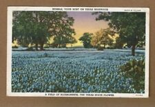 Field of Bluebonnets, TEXAS STATE FLOWER Humble Oil advertising,used 1947