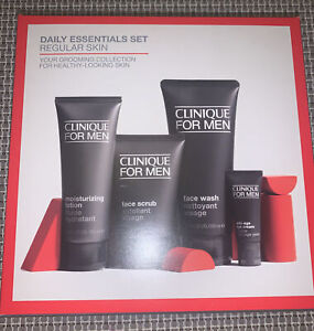 Clinique for Men Daily Essentials Set for Regular Skin Skincare Gift Set RRP £80