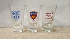 Barcelona Football Club FCB 3Pk Shot Glasses Officially Licensed Xmas gift