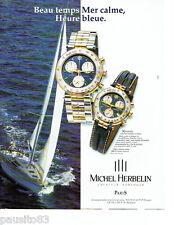 PUBLICITE ADVERTISING 096  1998  Michel Herbelin  montre Newport