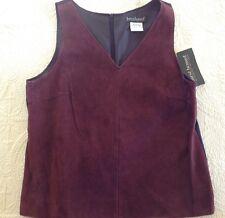 Harve Benard by Bernard Holtzman Suede/ Wool Women's Tank Vest Size 12