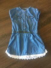 robe en jean avec dentelle taille 5 ans