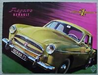 RENAULT FREGATE Car Sales Brochure 1958