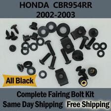 Complete Black Fairing Bolt Kit Body Screw for HONDA 2002 2003 CBR 954RR Fd