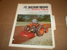 PY113) Bush Hog Sales Brochure 4 Pages - RT Series Rotary Tillers