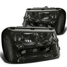 Fit 2002-2009 Chevy Trailblazer Smoked Housing Clear Corner Headlight/Lamp Set