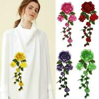 3D Embroidery Rose Sew Iron On Patch Badge Fabric Bag Applique DIY Clothes CL