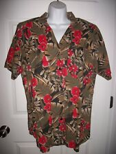 Venezia Women's Green & Red Floral Shirt Size 18/ 20