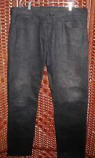 Levis 513 black coated slim straight jeans 36X32 mens 36 shiny slick