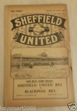1930/31 Central League: Sheffield United RES. V Blackburn Rovers RES - 4tht OTT.