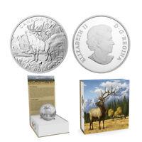 2016 $100 CANADA Elk, FINE .9999 SILVER COIN (OGP/COA)