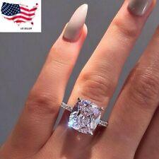 Sunshine Women Jewelry 925 Silver Rings White Sapphire Wedding Ring Sz 6-10