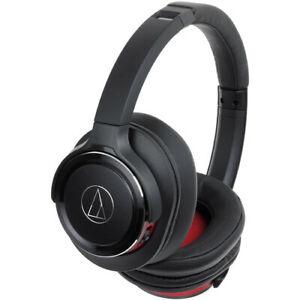 Audio-Technica ATH-WS660BTBRD-RB Solid Bass Headphones Black/Red - Refurbished