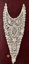 New listing Late 19th C. Brussels Mixed Duchesse Point de Gaze lace dress front / plastron.