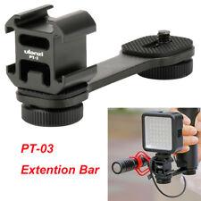 Ulanzi Microphone Extension Bar 3 Cold Shoe Mounts Bracket for Nikon DV Zhiyun