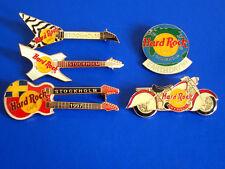 HRC hard rock cafe 5 pin set estocolmo White Killer 3 Guitars 2 other new