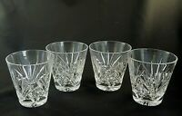 """CHERRYWOOD by Gorham Crystal OLD FASHIONED FLARED 3 1/2"""" Tall - Set of 4"""