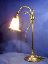 ANCIENNE LAMPE ARTICULÉE EN BRONZE TULIPE  PÂTE DE VERRE  SIGNÉE MULLER FRERES