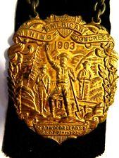 New listing 1903 Deadwood American Mining Congress Medal South Dakota Whitehead Hoag Badge