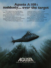 1975-76 PUB AGUSTA A 109 HELICOPTER HELICOPTERE HUBSCHRAUBER ORIGINAL AD