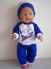 "BABY BORN 17""  DOLLS CLOTHES BULLDOGS CHEERLEADER TRACKSUIT OUTFIT"