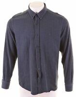 NAUTICA Womens Flannel Shirt Large Blue Check Cotton Slim Fit  AD14