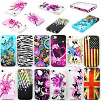 For Apple iPhone 5C Soft Rubber TPU Gel Pattern Skin Protective Phone Case Cover