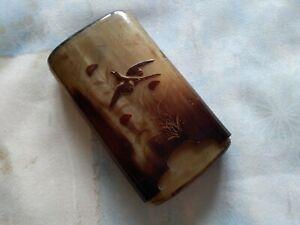 Vintage hand-carved decorative cigar case.