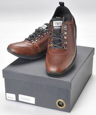 Barbour Highlands Low Shoes Sneakers Mens 8.5M Brown Leather NEW