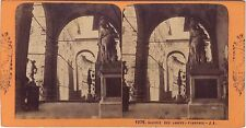 Florence Firenze Italie Photo Jean Andrieu Stéréo Stereoview Vintage albumine
