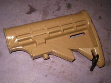 Shoulder Stock for Homemade RB AR Rubber band Gun  painted tan      6C3