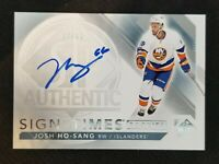 2017-18 SP AUTHENTIC SIGN OF THE TIMES ROOKIES JOSH HO SANG AUTO #ED 97/99