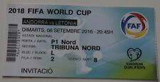 Ticket for collectors World Cup q Andorra - Latvia 2016