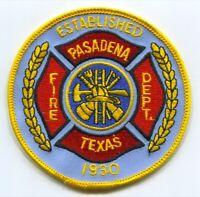 Pasadena Fire Department Patch Texas TX