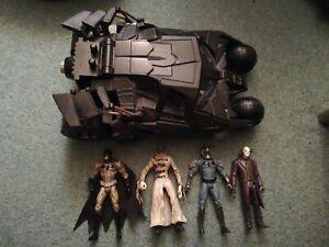Bundle DC Batman Dark Knight Figures And Batmobile