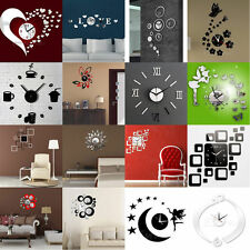 Modern DIY 3D Mirror Surface Wall Sticker Removable Home Office Room Decor
