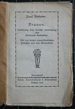 Paul Verlaine. Frauen. Privatdruck-500 Ex.. 1921. Umdichtung v. F. Rodenstein.
