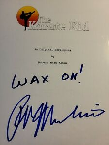 AUTOGRAPHED The Karate Kid movie script - Robert Mark Kamen Screenplay COA!