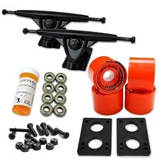 HD7 Longboard Combo set - Black trucks (Solid Orange)