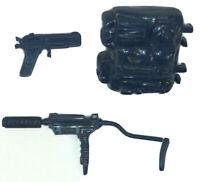 GI Joe 1988 Shockwave blue accessories Gun backpack weapons parts