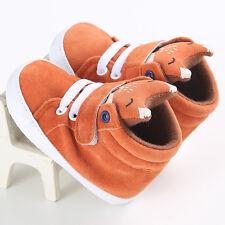 Toddler Baby Girl Boys Fox Crib Shoes Anti-slip Sneaker Soft Sole Pram Prewalker