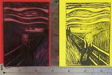 The Scream by Munch full image UM rubber stamp Amazing overstock special only $5