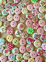 20 Assorted Buttons Size 15mm