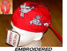 LADY WOMAN BIKER Babe Chick EMBROIDERED FITTED BANDANA TIES Doo Do Rag Skull Cap